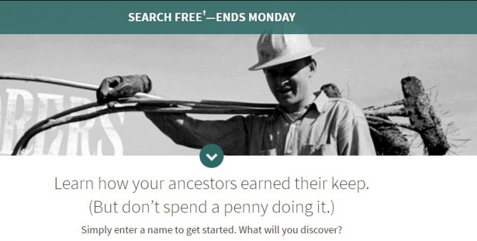 Ancestry.com Free Weekend