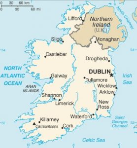 CIA map of Ireland