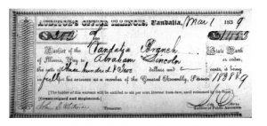 Check for $302 issued to Abraham Lincoln