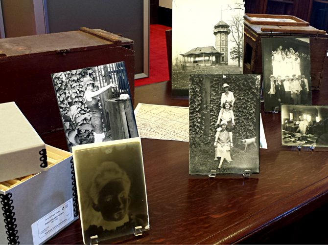 Dubach family prints and a glass plate negative