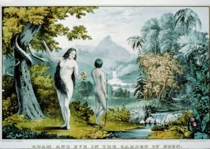 Adam and Eve in the Garden of Eden (Library of Congress image)