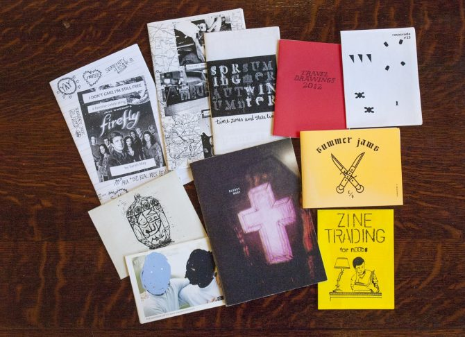 Zines reviewed for this post.