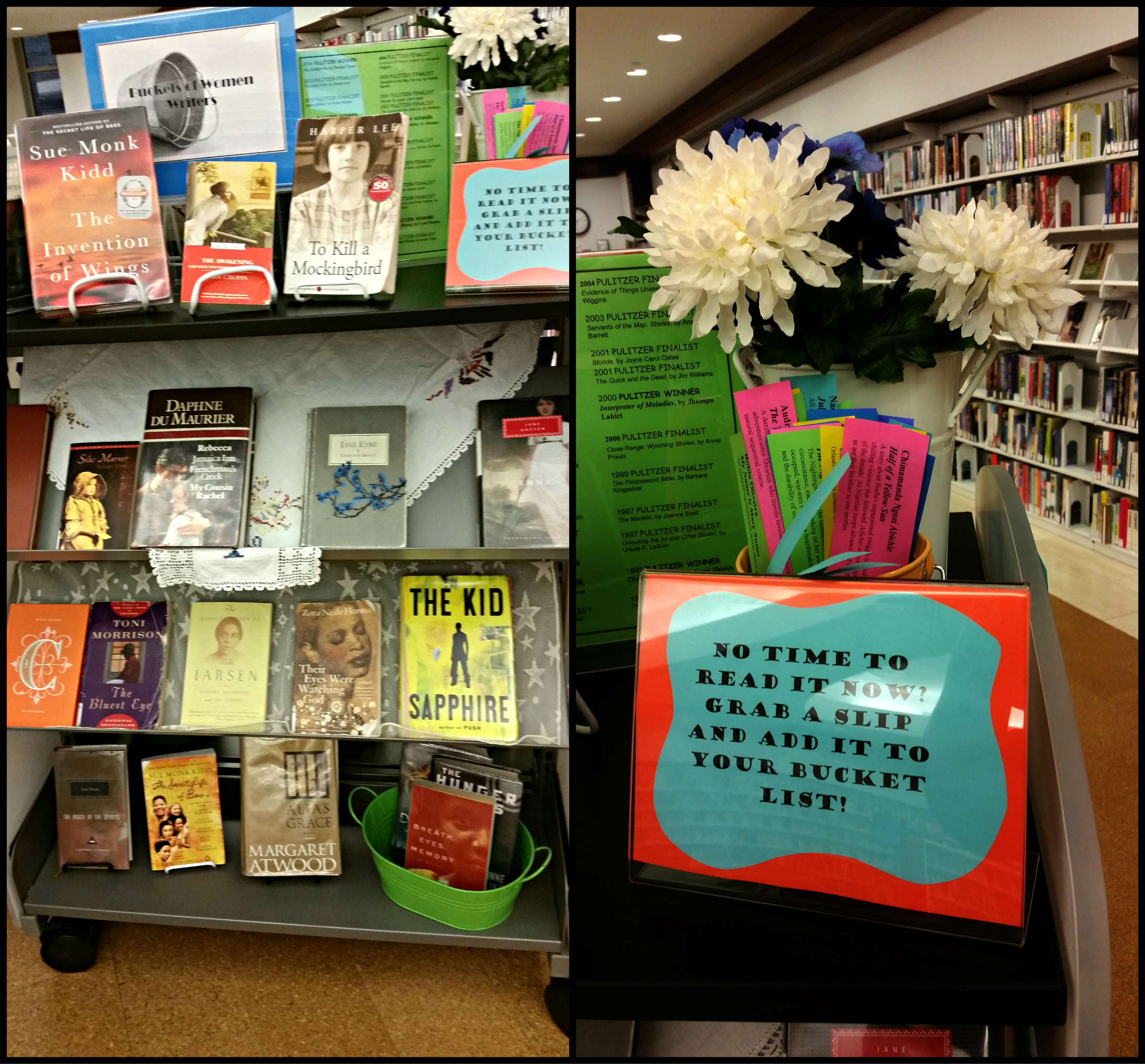 Display in Center for the Reader