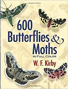 600 Butterflies and Moths in Full Color by W. F. Kirby