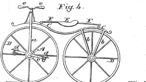 Velocipede patent image