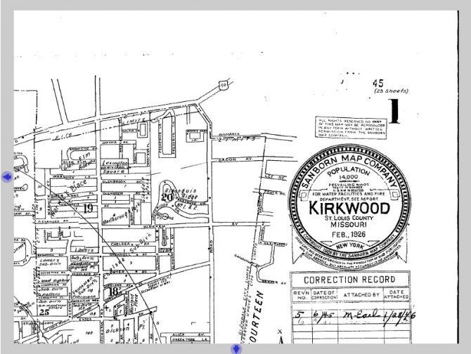 Map of Kirkwood, Missouri