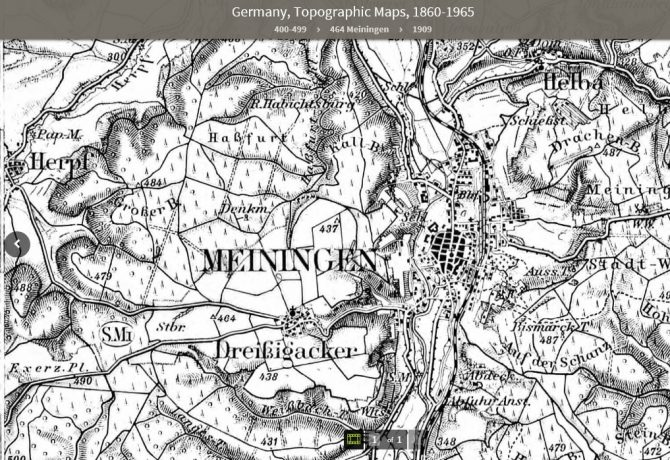 map showing meiningen germany