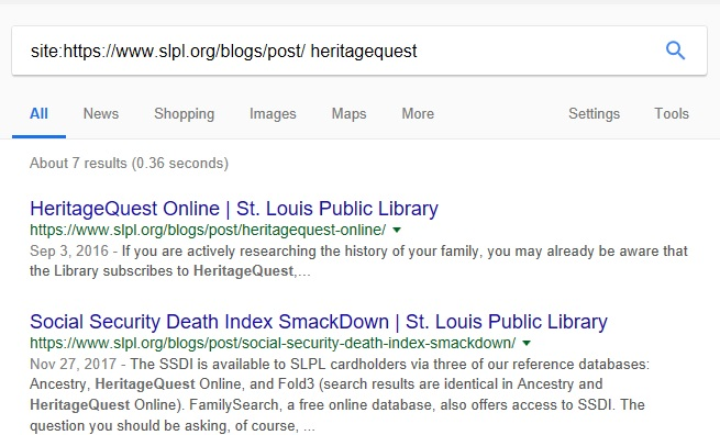 Google search box with easy blog search query