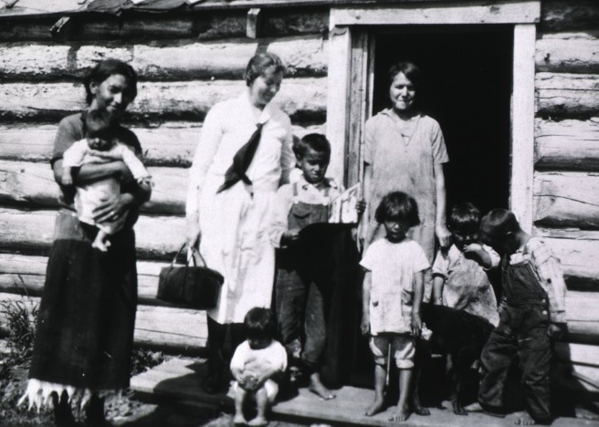 Nurse visiting Indian reservation (National Library of Medicine photo)