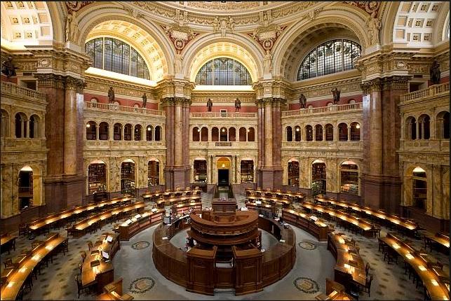 Main Reading Room, Library of Congress (LOC.gov photo)
