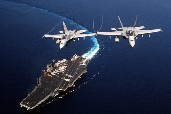 Aircraft carrier and aircraft (Defense.gov photo)