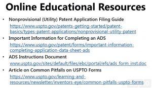 slide of Online Educational Resources