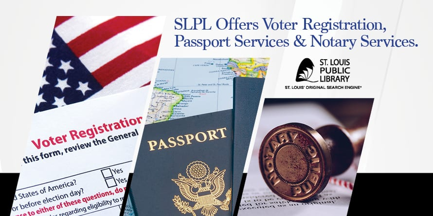 banner for voter, passport and notary services